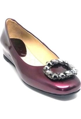 Shop And Shoes 129-4012 Kadın Ayakkabı Mürdüm Rugan