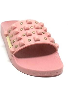 Shop And Shoes 155-02410 Kadın Terlik Pudra