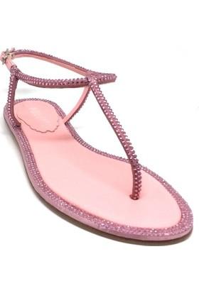 Shop And Shoes 061-019729 Kadın Sandalet Fuşya