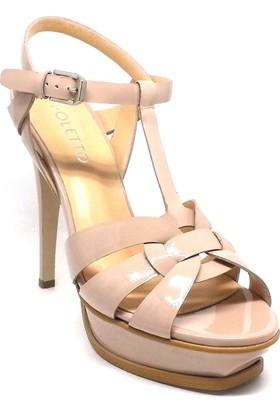 Shop And Shoes 061-40750 Kadın Ayakkabı Pudra Rugan