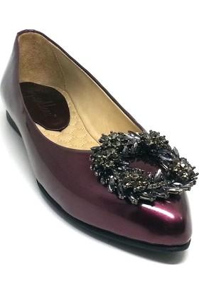 Shop And Shoes 129-1117 Kadın Babet Mürdüm Rugan