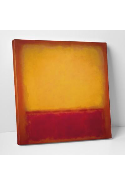 Mark Rothko Sarı, Turuncu, Sarı, Açık Turuncu Kanvas Tablo 25 x 25 cm