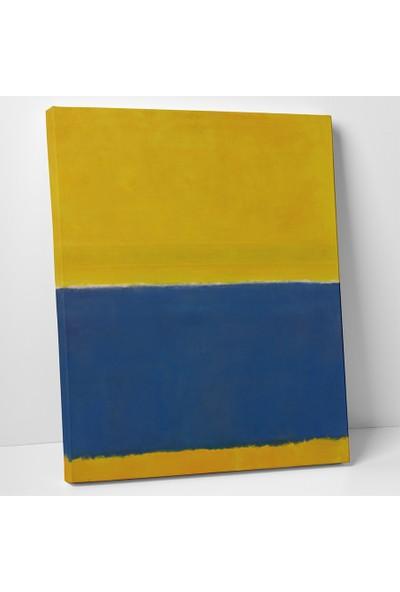 Mark Rothko Sarı Mavi Kanvas Tablo 30 x 40 cm