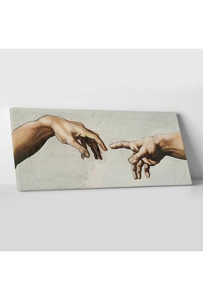 Michelangelo Adem'in Eli Kanvas Tablo 20 x 60 cm