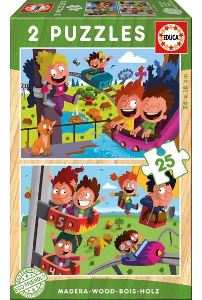 Educa Puzzle Circuss 2 X 25 Parça Ahşap Puzzle