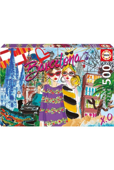 Educa Puzzle Take Me To Barcelona 500 Parça Puzzle