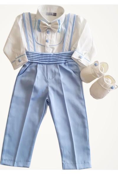 Pugi Baby Erkek Bebek Papyonlu Salopet Mevlüt ve Özel Gün Takımı