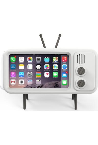 Retro Tivi Akıllı Telefon Standı iPhone 6/6S/7/8 Plus Uyumlu