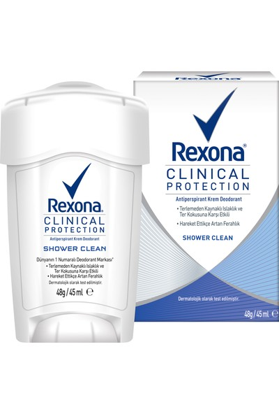 Rexona Clinical Protection Shower Clean Stick Deodorant 45 ml