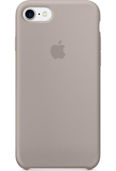 Graytiger Apple iPhone 8 Bej Silikon Kılıf Kauçuk Arka Kapak