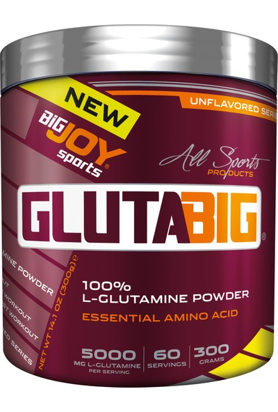 Bigjoy Gluta Big % 100 Glutamine Powder 300 Gr Aromasız