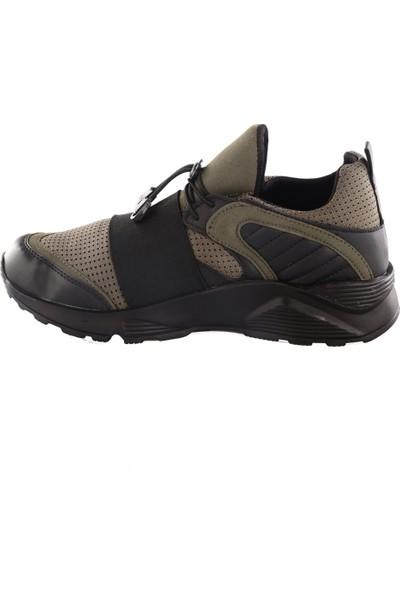 Dgn Erkek Sport 17855 Memory Foam Sneakers Spor Ayakkabı Yeşil