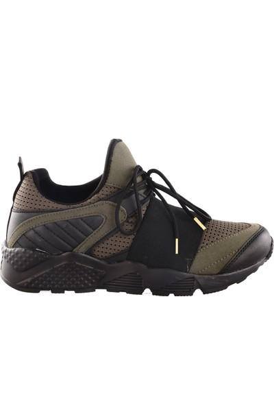 Dgn Erkek Sport 18270 Bayan Sneakers Spor Ayakkabı Yeşil