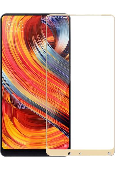 Gpack Xiaomi Mi Mix 2 Tam Kapatan Renkli Ekran Koruyucu Cam - Gold