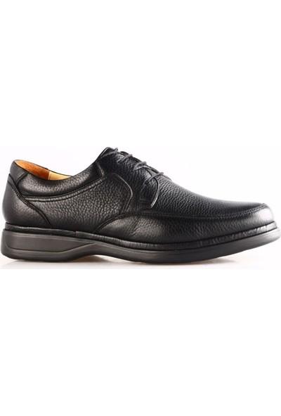 Dgn Erkek 209 - B Bağcıklı Comfort Ayakkabı Siyah