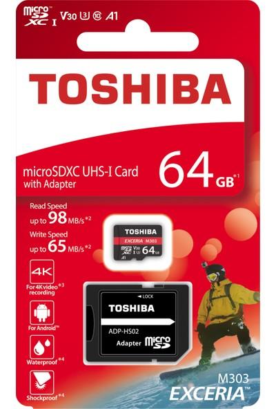 Toshiba Exceriapro 64GB Micro SDXC UHS1 U3 98/65MB Hafıza Kartı THN-M303R0640E2