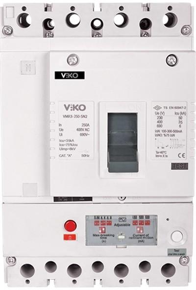 Viko 4P 160A 50Ma-1A Kaçak Akımlı Kompak Şalter Vmr3-160-Sn2