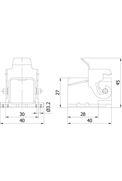 Mete Enerji 5P 10A Çok Kontaklı Eğik Makina Prizi Metal