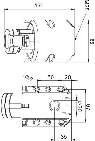Mete Enerji 32A Cee Norm Duvar Prizi Ip44 10° 3P+N+E