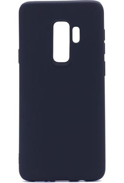 Sunix Samsung Galaxy S9 Plus Kılıf Ultra İnce Mat Silikon Lacivert + 3D Curved Temperli Cam