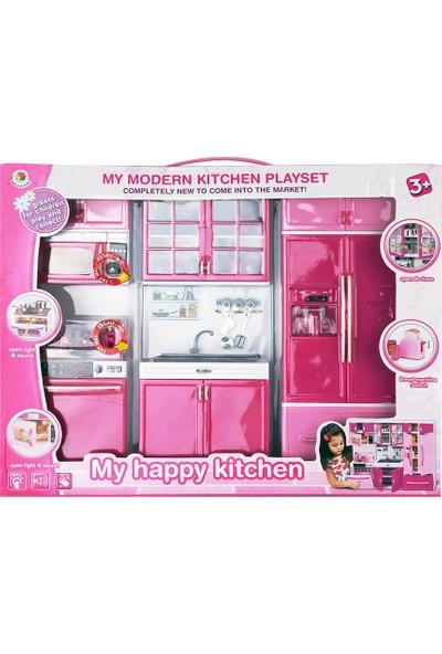 My Happy Modern Buzdolaplı Büyük Işıklı Mutfak Seti