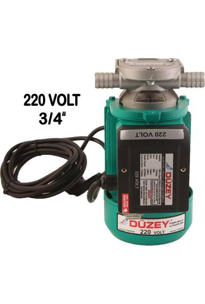 """Düzey 3/4""""-220 Volt Dıştan Çıkışlı Alüminyum Gövde Sıvı Transfer Pompası - Mazot Aktarma"""