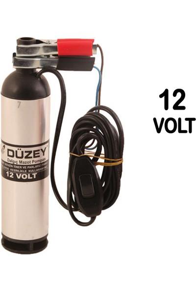 Düzey 12 Volt Küçük Alüminyum Gövde Sıvı Transfer Pompası - Mazot Aktarma