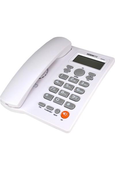 Hobimtek Dextel Ekranlı Kablolu Telefon Masa Telefonu Beyaz 46559