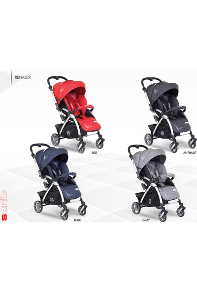 Casual Sonic Çift Yönlü Bebek Arabası - Kırmızı