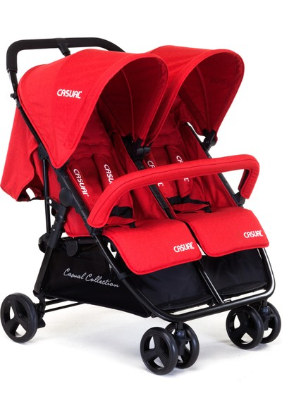 Casual Twin İkiz Bebek Arabası - Red