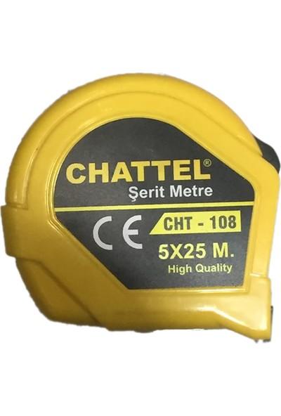 Chattel Metre 5 m 25 mm Chattel 1. Kalite