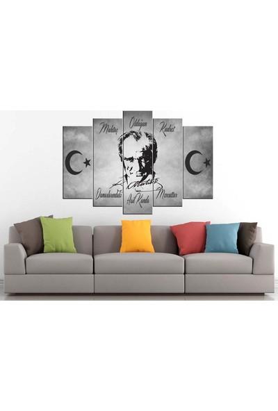 Sibiro Atatürk MDF Tablo Muhtaç Olduğun Kudret 70 x 100 cm Azyata221