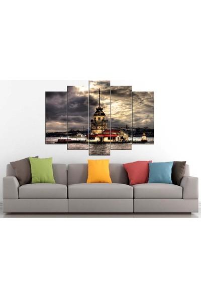 Sibiro Dekoratif Manzara Konsept MDF Tablo Kız Kulesi Gri 70 x 100 cm Azypl19