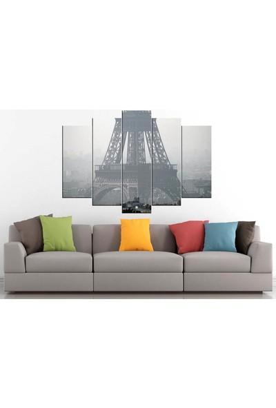 Sibiro Dekoratif MDF Tablo Siyah Beyaz Eyfel 70 x 100 cm Azytn30