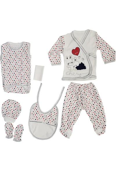 Webombinoo 7'li Lacivert Kız Bebek Tavşanlı Hastane Çıkışı Seti