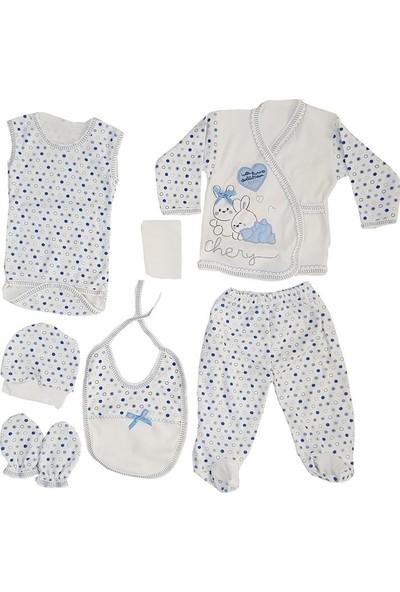 Webombinoo 7'li Mavi Erkek Bebek Tavşanlı Hastane Çıkışı Seti