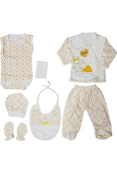 Webombinoo 7'li Sarı Kız - Erkek Bebek Tavşanlı Hastane Çıkışı Seti