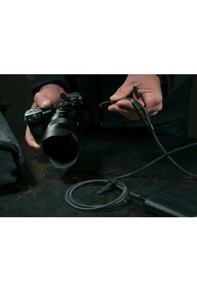 Case 4U 3in1 Lightning + Type-C + Micro USB to USB 2.0 Dayanıklı Naylon Örgü Data ve Şarj Kablosu 1.5m