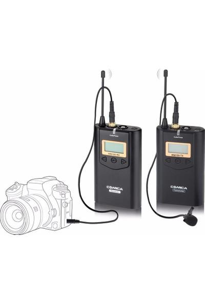 Comica CVM-WM100 Kablosuz 48 Kanal UHF Yaka Mikrofonu