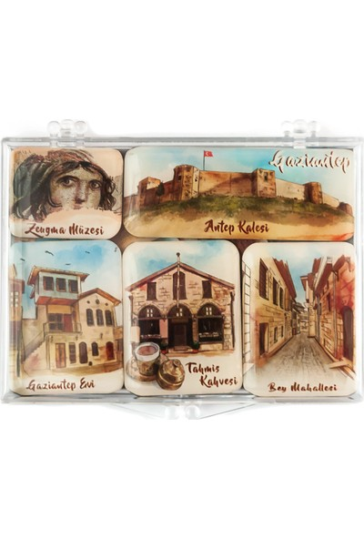 City Collection Gaziantep Mini Magnet Seti