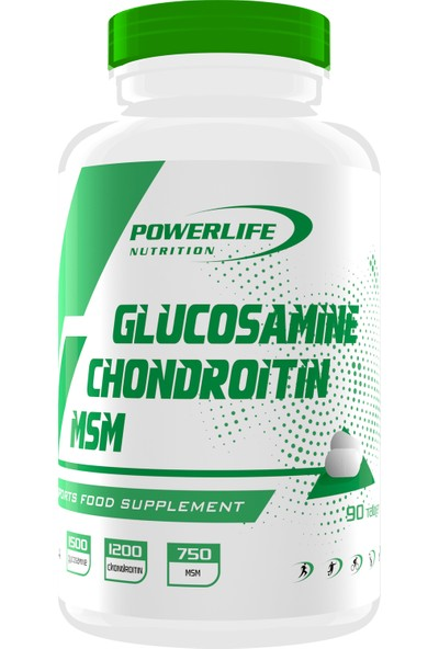 Powerlife Glucosamine Chondroitin Msm 90 Tablet Ve Tablet Kutusu