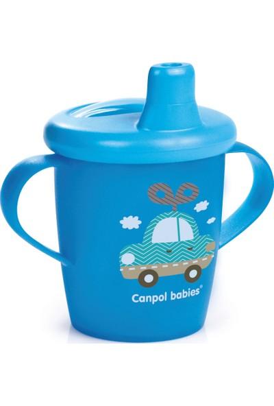 Canpol Babies BPA'sız Damlatmaz Alıştırma Bardağı Araba Mavi 9 Ay+ 250 ml