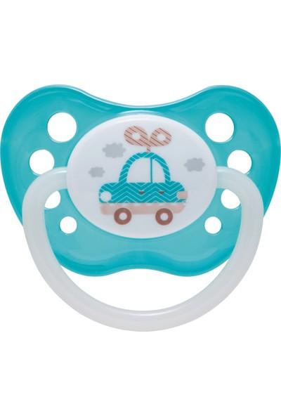 Canpol Babies Toys Collection BPA'sız Ortodontik Emzik Turkuaz Araba ( Karanlıkta Parlar ) 0 - 6 Ay