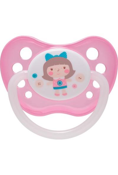 Canpol Babies Toys Collection BPA'sız Ortodontik Emzik Pembe Bebek ( Karanlıkta Parlar ) 0 - 6 Ay