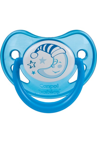 Canpol Babies Night Dreams Collection BPA'sız Ortodontik ( Karanlıkta Parlar ) Emzik Mavi 0 - 6 Ay