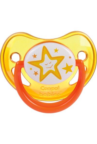 Canpol Babies Night Dreams Collection BPA'sız Ortodontik ( Karanlıkta Parlar ) Emzik Orange 0 - 6 Ay