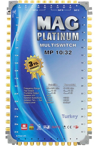 Mag Platinum 10 x 24 Sonlu Uydu Santrali