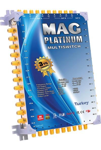 Mag Platinum 10 x 40 Sonlu Uydu Santrali + Adaptör