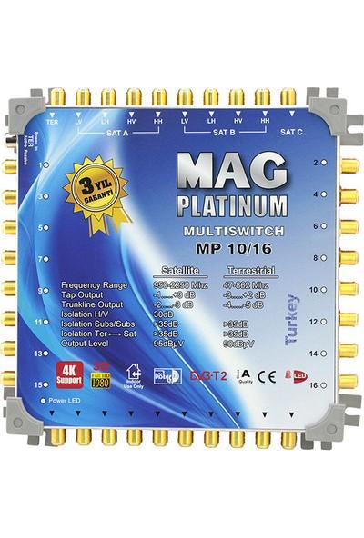 Mag 10 x 16 Sonlu Uydu Santrali +Adaptör