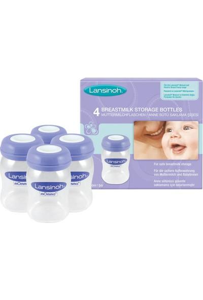 Lansinoh® Anne Sütü Saklama Şişeleri - 4 x 160ml